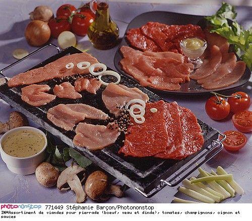 assortiment de viandes pour pierrade boeuf veau et dinde tomates champignons oignon et. Black Bedroom Furniture Sets. Home Design Ideas
