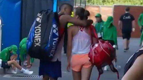 Nick Kyrgios, Ajla Tomljanovic Spotted Kissing at Australian Open 2016 - http://www.tsmplug.com/tennis/nick-kyrgios-ajla-tomljanovic-spotted-kissing-at-australian-open-2016/