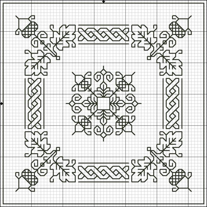cross stitch acorn boarder 278 (700x700, 160Kb)