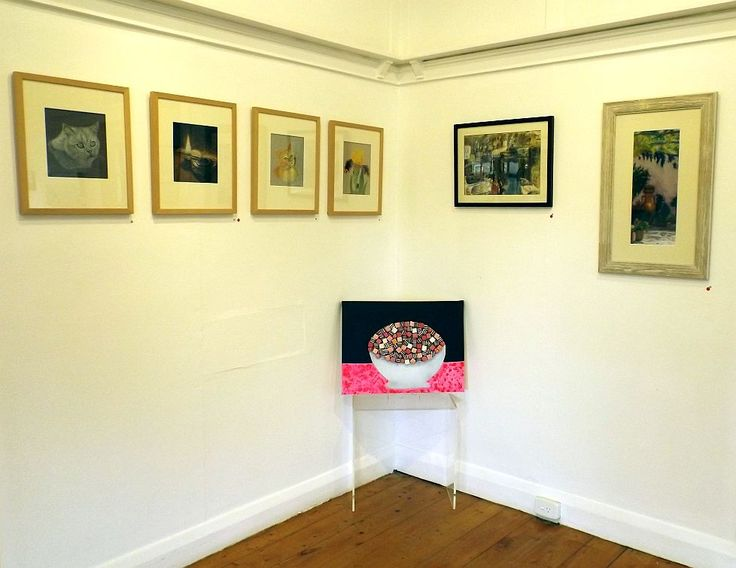 Works in situ by Debby Gairns, Stephanie Boyle, Katie Volter and Annie Florence - Allsorts exhibition 19 March - 12 April 2015, Strathnairn Arts