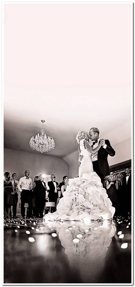 #low perspective of the first dance - love this angle