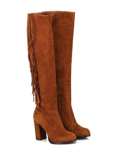 GUGLIELMO ROTTA - Stivali - Donna - Stivale in camoscio con frange su lato…