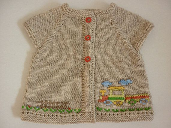 Knitted baby cardigan /unisex baby cardigan/knit baby от AnaSwet