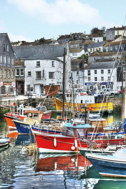Beautiful boats at Mevagissey, Cornwall.