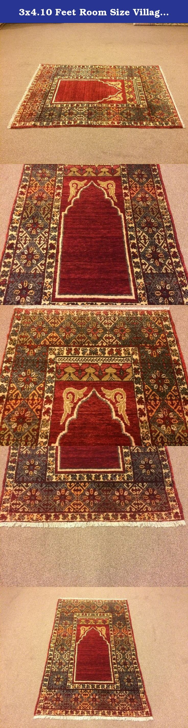 3x4.10 Feet Room Size Village Rug Vintage Rug Bedroom Size Handmade Carpet Handmade Rug Handmade Big Rug Big Vintage Carpet Code:A536. It is %100 turkish carpet.All colours are natural dyed. Size:3x4.10 feet 91x147 cm Material:wool on wool Code:A536 Fast Worldwide Shipment in 1-3 business days after the order and it may take an additional 3-5 days for delivery. All items are shipped by Fedex and Ups.Please note that light effect, monitor's brightness, contrast etc. may cause a slight…