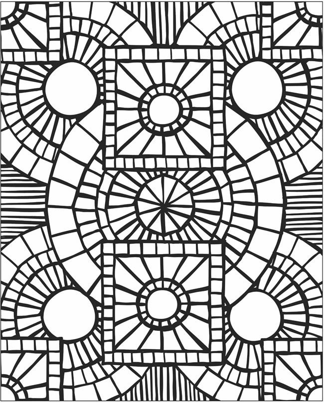 It is a photo of Impertinent mosaic coloring pages