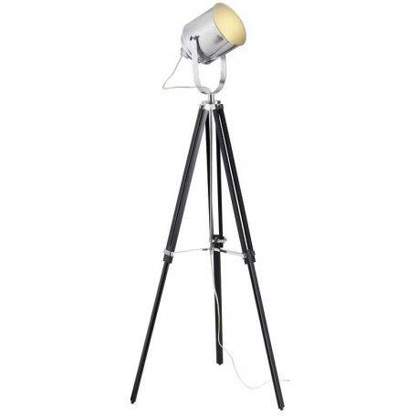 Stylizowana lampa podłogowa Mettle na trójnogu marki Brilliant. Model wpisujący się we wnętrza industrialne oraz loftowe. http://blowupdesign.pl/pl/21-lampy-stojace-podlogowe-salonowe-do-czytania #lampystojace #lampypodłogowe #lampatrójnóg #lampystudyjne #lampyloftowe #floorlamps #loftlighting #industriallamps