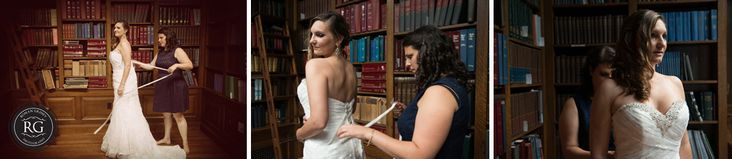 bride getting ready  at Carnegie Institution for Science