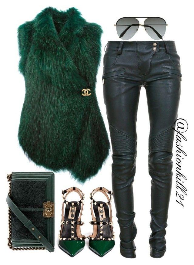 Envy Me by fashionkill21 on Polyvore featuring polyvore fashion style Barbara Bui Balmain Valentino Chanel Victoria Beckham women's clothing women's fashion women female woman misses juniors