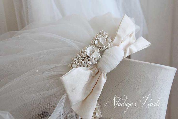 Vintage sluier | Vintage Pearls