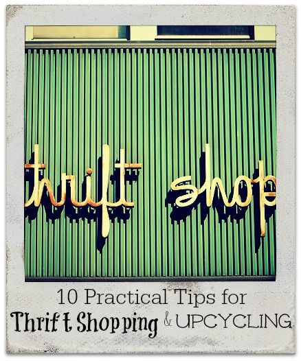 """Instead of constantly buying new things, what if we all upcycled our own or bought perfectly-good used ones? What if we thought about this """"Buyerarchy of Needs"""" first? What kind of difference could we make. Get started on thrift shopping and upcycling with 10 tips on the blog."""