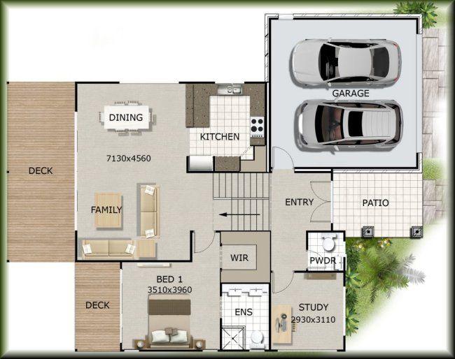 attractive house plans on sloped land #4: hillside design