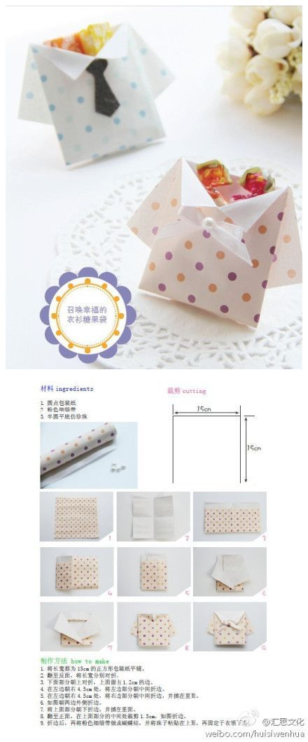 Origami Shirt Envelope: