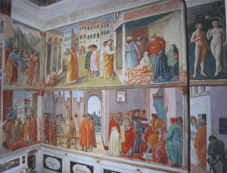 Мазаччо, Мазолино и др.  Росписи в капелле Бранкаччи.1426-82 гг.