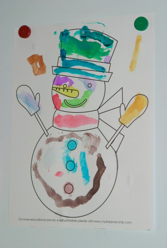 snowman printable color sheet (snowman unit study)