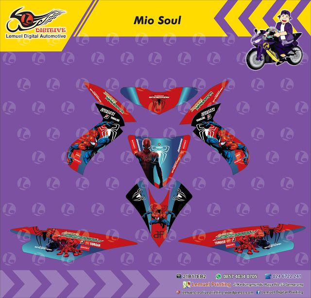 Custom Decal Vinyl Striping Motor Full Body Yamaha Mio Soul Thema - Mio decalsfor sale yamaha mio genuine decals