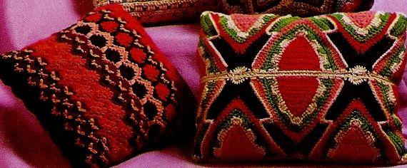 DIY Boho Pillows PDF Vintage Crochet Patterns