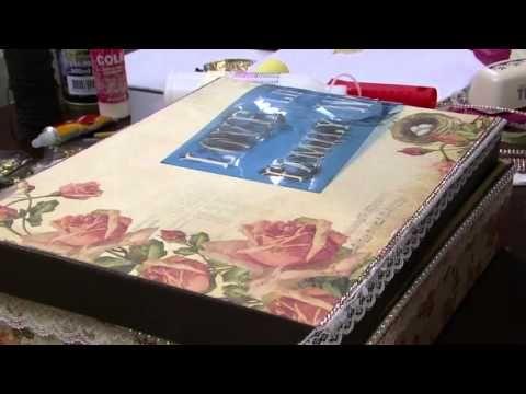 Passo a Passo: Caixa MDF - Transfer Paper em MDF e Vidro - Mansão das Artes - YouTube