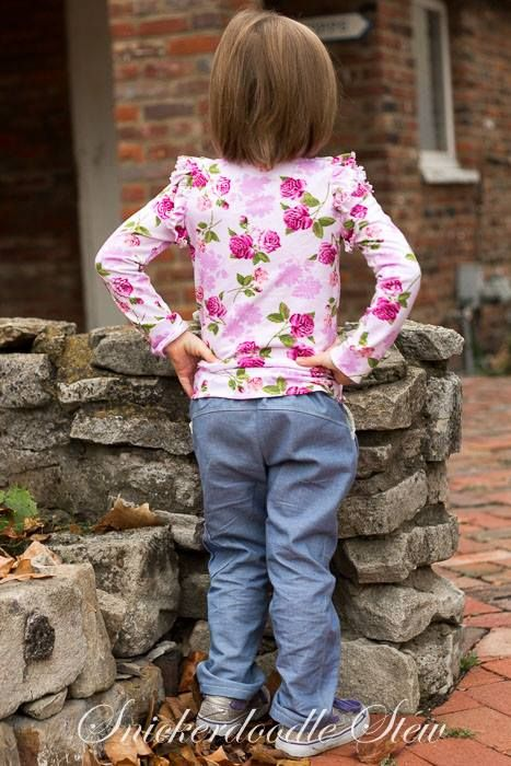 Pattern Emporium Girls Sweetheart Cargo Pants - cargo pants designed especially for girls.
