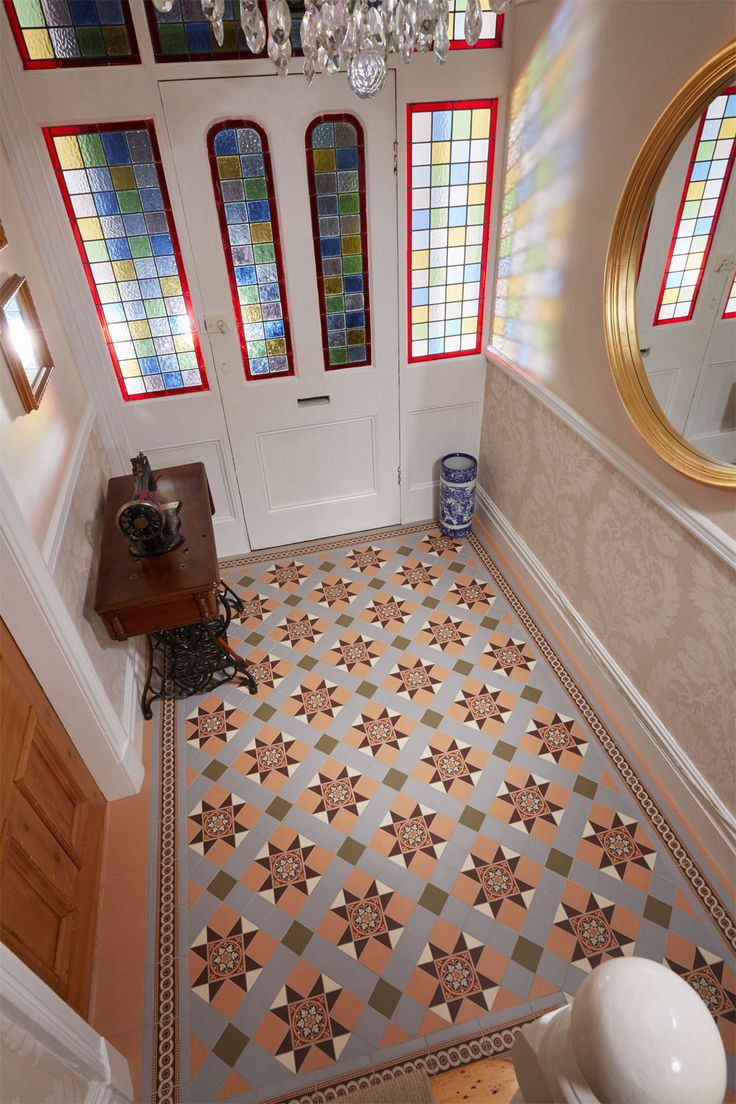 The Blenheim Pattern, Victorian Floor Tiles by Original Style