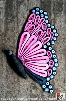 "2nd out of 4 butterfly. On its side view :-) Made to order.  For order and queries Sms/call 09235861899 or msg us on facebook.com/giftsandcraftsph  Follow us on twitter @GiftsCraftsPH and IG @giftsandcraftsph #sideview #2ndbutterfly #pink  #butterfly #papercraft #handmade #giftsandcraftsph #gcphbutterfly #gcphbutterflywings #ilovegcph  ""It's not just about creativity, it's about the person you're becoming when you're creating."" :-)"