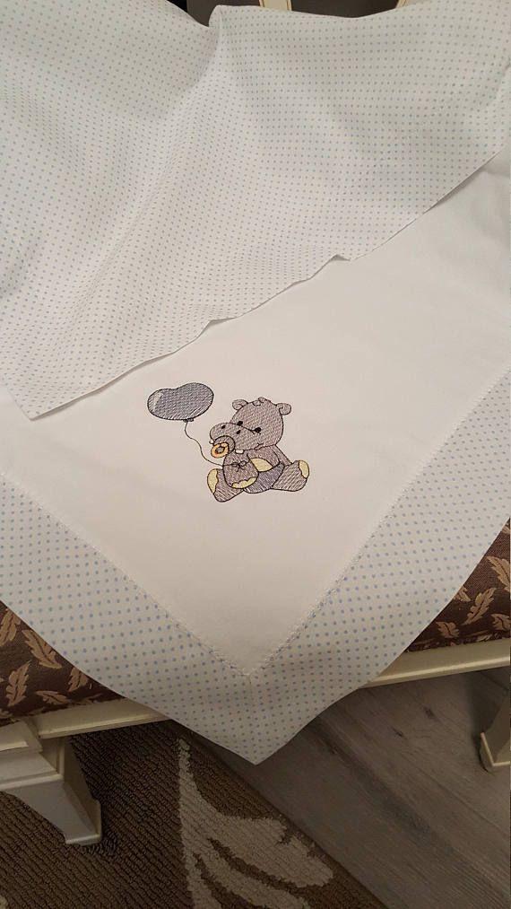Receiving Baby Blanket Hippo