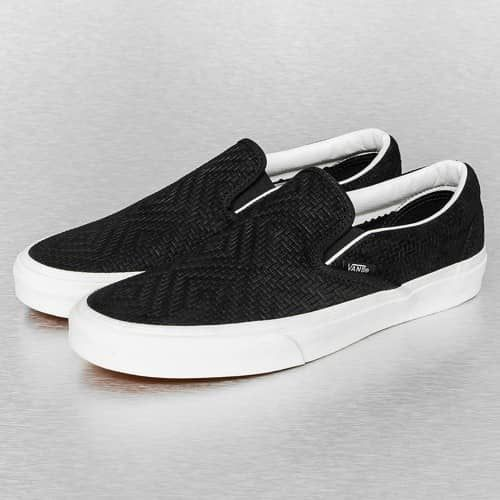 vette Vans Classic Braided Suede Slip-On (zwart)