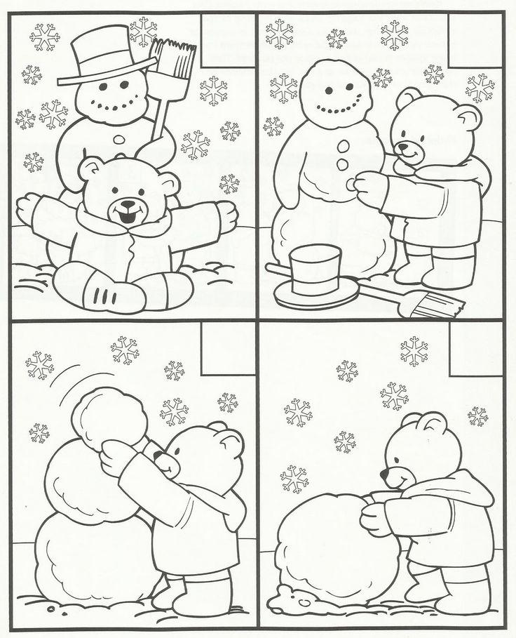 Histoire séquentielle bonhomme de neige