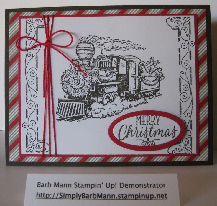 Barb Mann Stampin' Up! Demonstrator - SU - Christmas Magic, Father Christmas, Hang Your Stocking