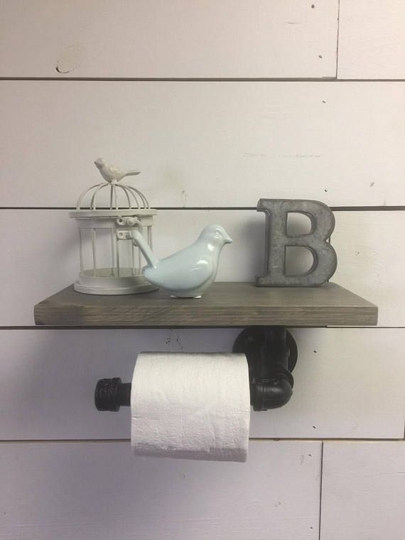 Rustic Toilet Paper Holder, Industrial Toilet Paper Holder #ad
