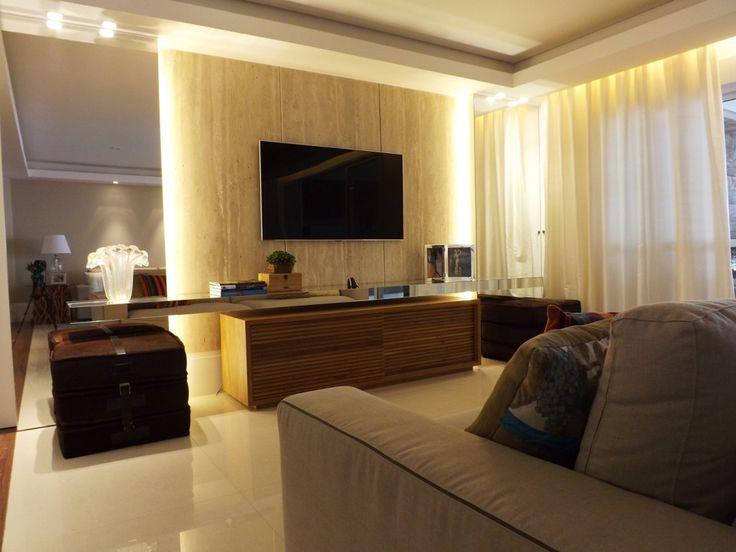 Sala Com Painel De Tv E Puff ~ Explore De Tv, Sala Tv, and more!
