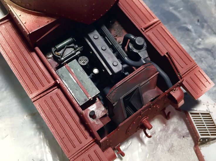 Engine interior. Pz 38(t) Ausf.G dragon #models with #Friulmodellismo tracks and #voyagermodel detail set. #tank #38(t)   #panzer