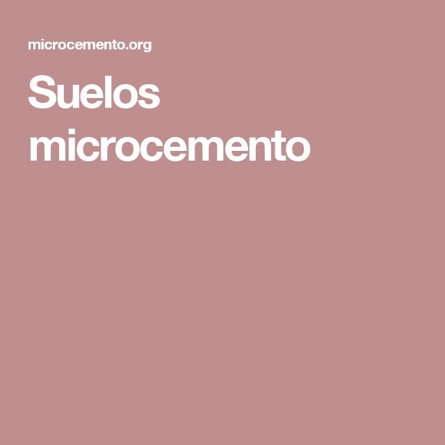 Suelos microcemento