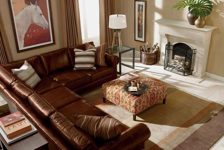 ethan allen sofas in living room | Ethan Allen Richmond leather sectional | LIVING ROOM ...