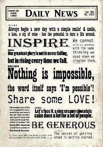 Positive wall words printet on Epson canvas, size 60 cm x 43 cm  www.madamea.no