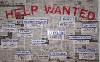 I love this newspaper want ads job board for classrooms.
