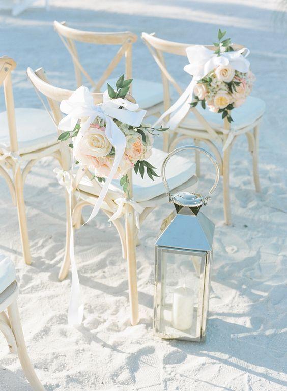blush beach wedding chair  / http://www.himisspuff.com/wedding-chair-decor-ideas/9/