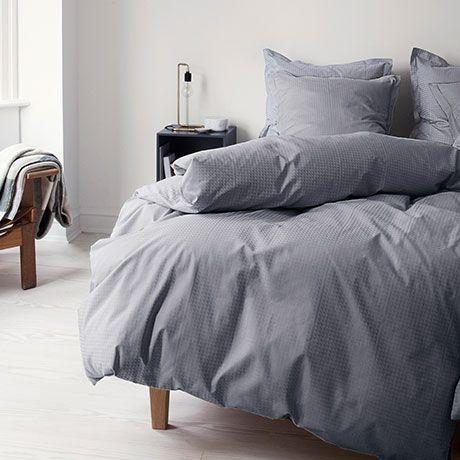 Bed Linen Set   Grey Cotton   Danish Design   By Georg Jensen Damask #MONOQI