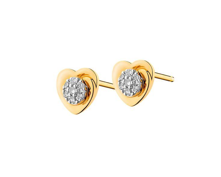 Kolczyki z żółtego złota z diamentami - wzór 109.471 / Apart