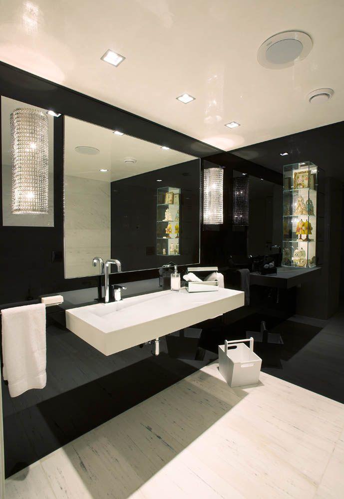 Adamos Residence by Varda Studio. Mmmm I love dark, moody bathrooms.