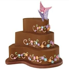 No secret I LOVE chocolate and butterflies. But these colors really pop against the chocolate buttercream . Love this cake. Colors can always be changed too. LOVE IT!!!!!!!!!