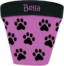 Dog Paws Flower Pot by DesignsByDesa on Etsy