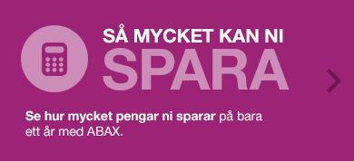Kolla hur mycket ni kan spara på att använda ABAX produkter