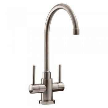 Caple Lamar Stainless Steel Twin Lever Kitchen Sink Mixer Tap LAM2-SS £112