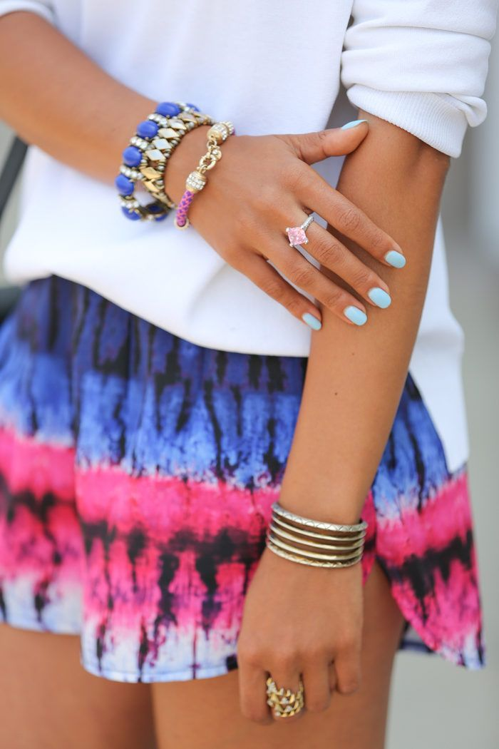 Love her jewelry and nail polish!