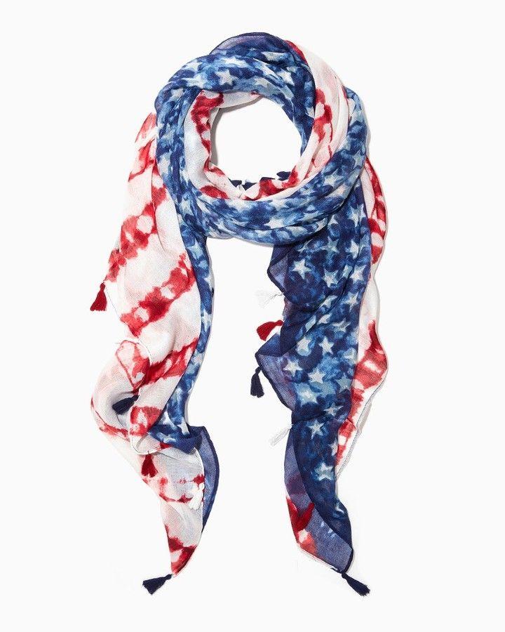 Tie Dye Flag Scarf
