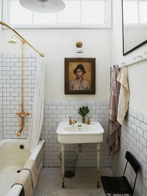 A collection of Vintage and Victorian bathrooms.  Inspiration for our DIY bath remodel.