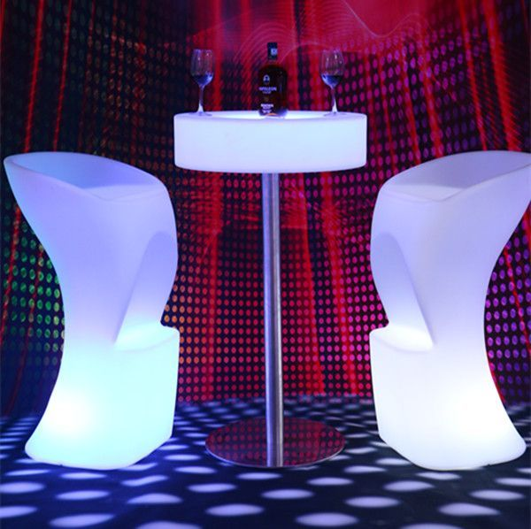 hilton hotel furniture for sale night club rechargeable led bar furniture with color change led chair seat table