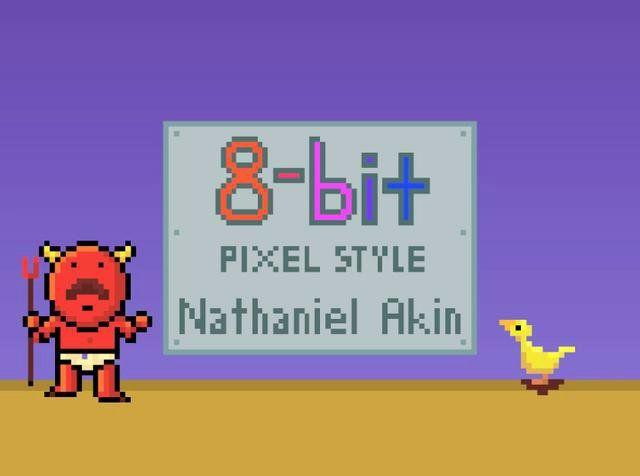 8-bit pixel style animation reel