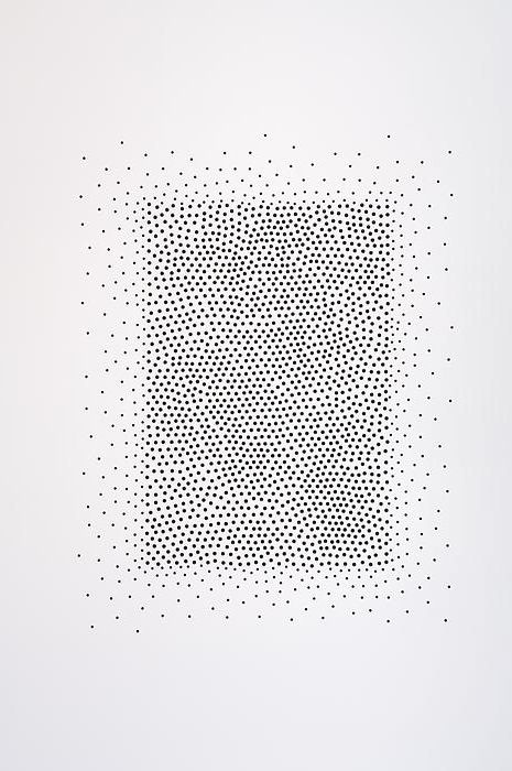 Teresita Fernandez - I would love to make a picture purely out of dots. Maybe use a sewing pin and paint?